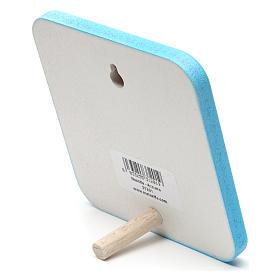 Quadretto in legno Nascita Azzurro s2