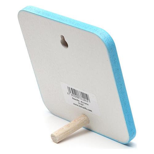 Quadretto in legno Nascita Azzurro 2