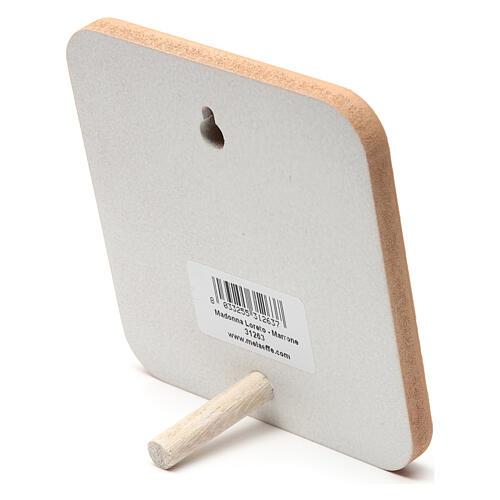 Bild aus Holz Pilgermadonna, beige