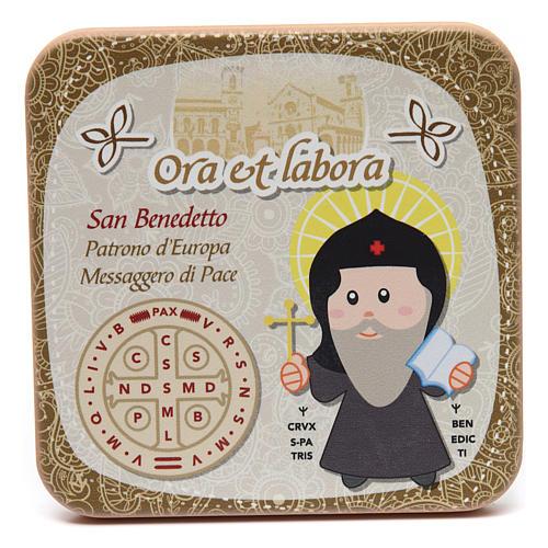 Obrazek drewniany święty Benedykt 1