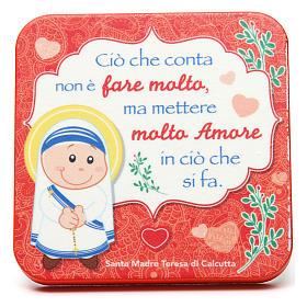 Quadretto in legno Madre Teresa di Calcutta s1