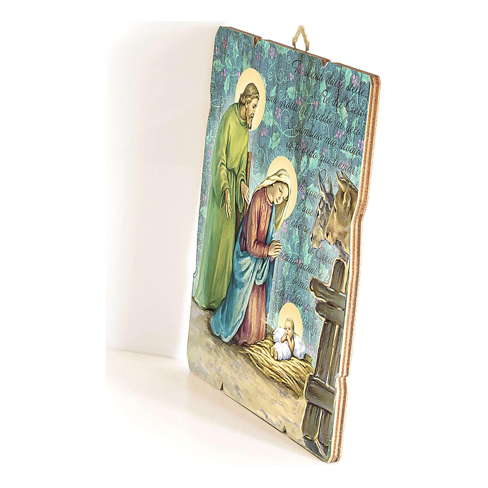 Quadretto in legno San Pio da Pietralcina 3