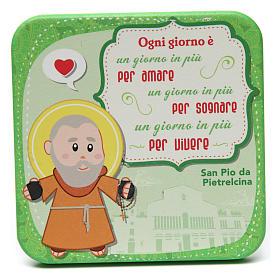 Quadretto in legno San Pio da Pietralcina s1