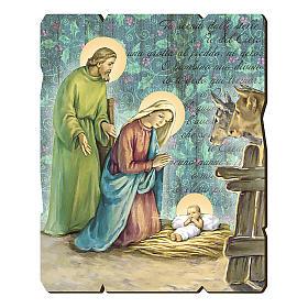 Cuadro de Madera Perfilada gancho en la parte posterior imagen Natividad s1