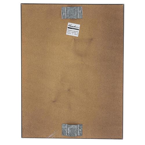 STOCK Gesù Crocifisso quadro in maiolica 35x25 cm 4