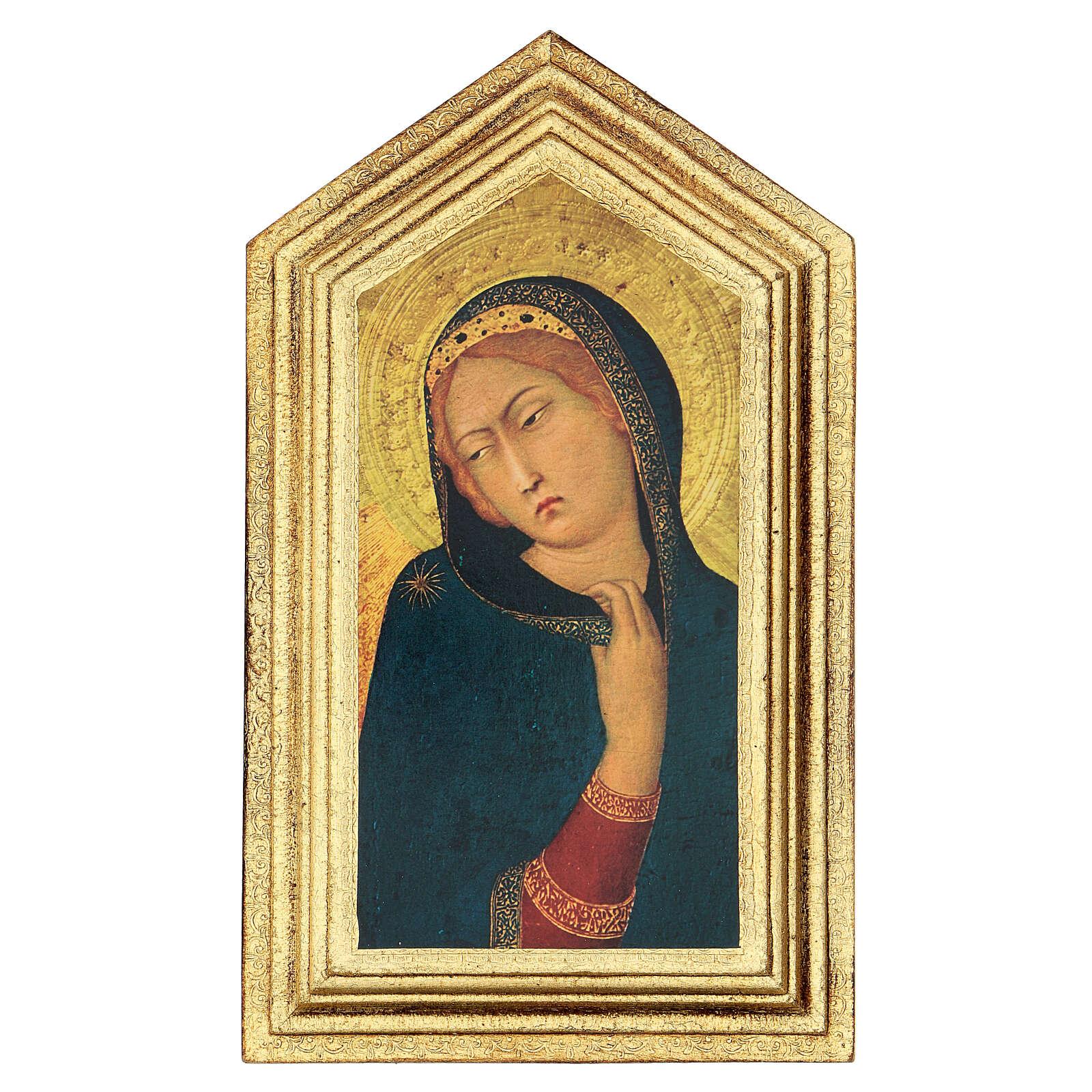 Icono impresa Anunciación Simone Martini 20x25 cm 3
