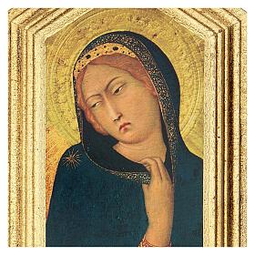 Icona stampa Annunciazione Simone Martini 20x25 cm s2