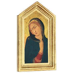 Icona stampa Annunciazione Simone Martini 20x25 cm s3