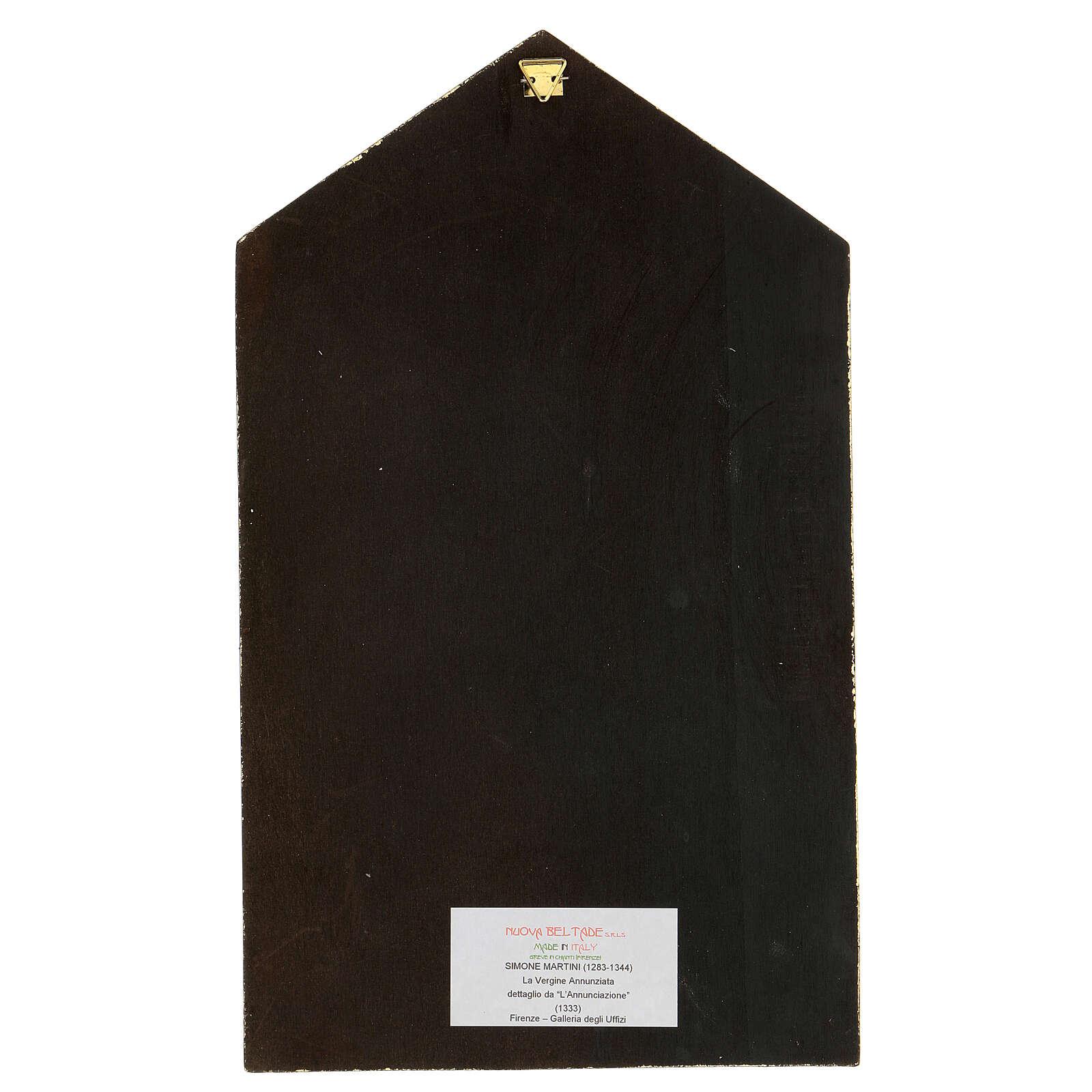 Printed icon Simone Martini's Annunciation 8x10 in 3