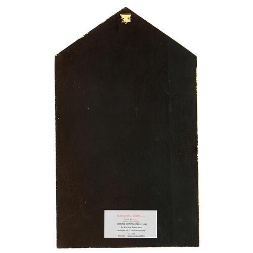 Printed icon Simone Martini's Annunciation 8x10 in 4