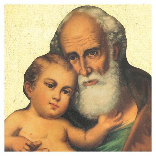 Quadro stampa San Giuseppe con bambino Gesù 30x25 cm 2