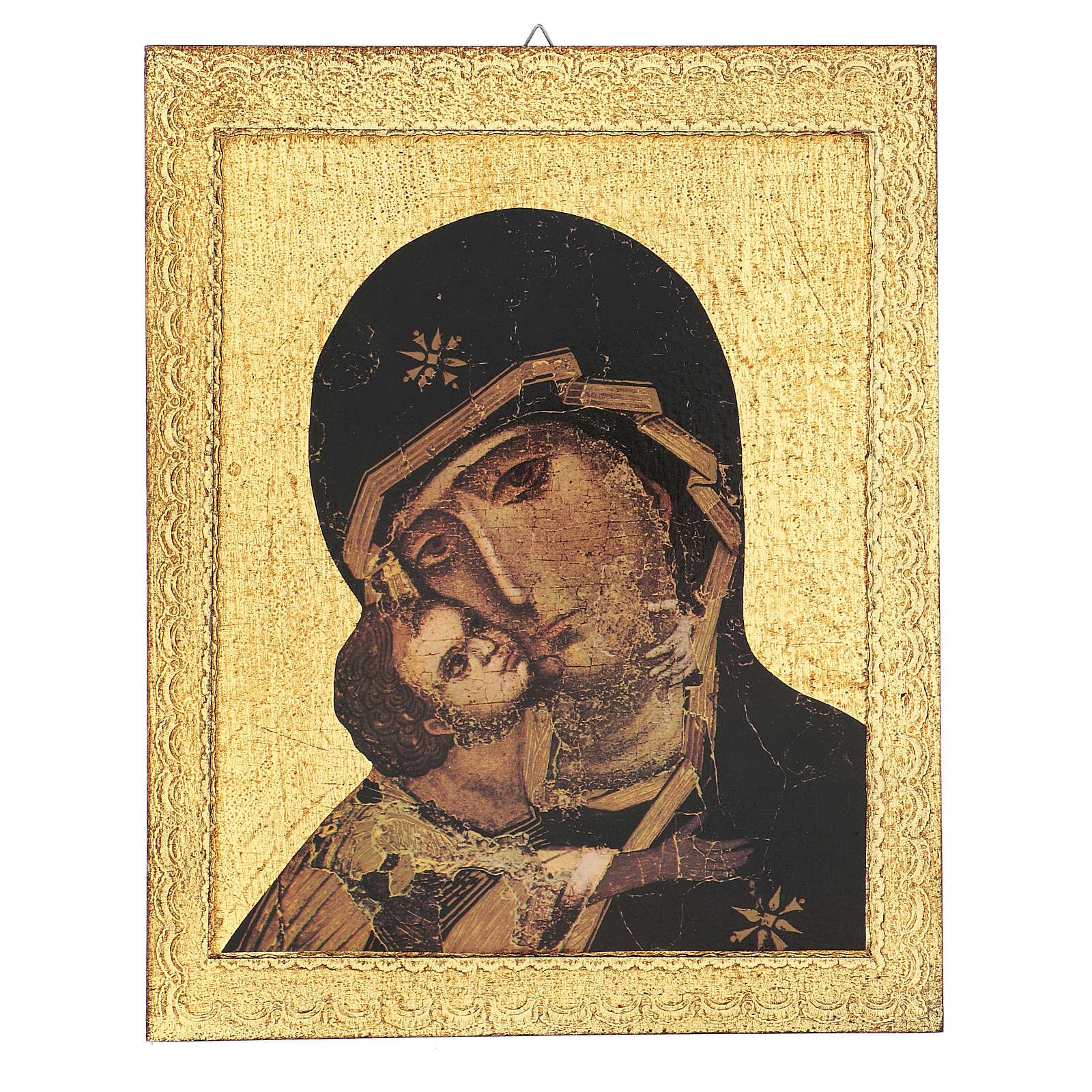 Quadro stampa Madonna di Vladimir 30x25 cm 3