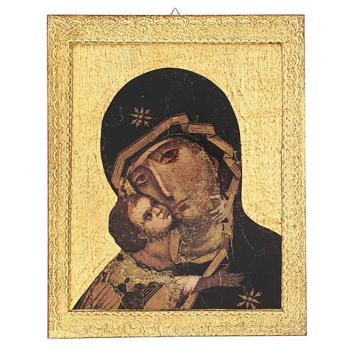 Quadro stampa Madonna di Vladimir 30x25 cm 1