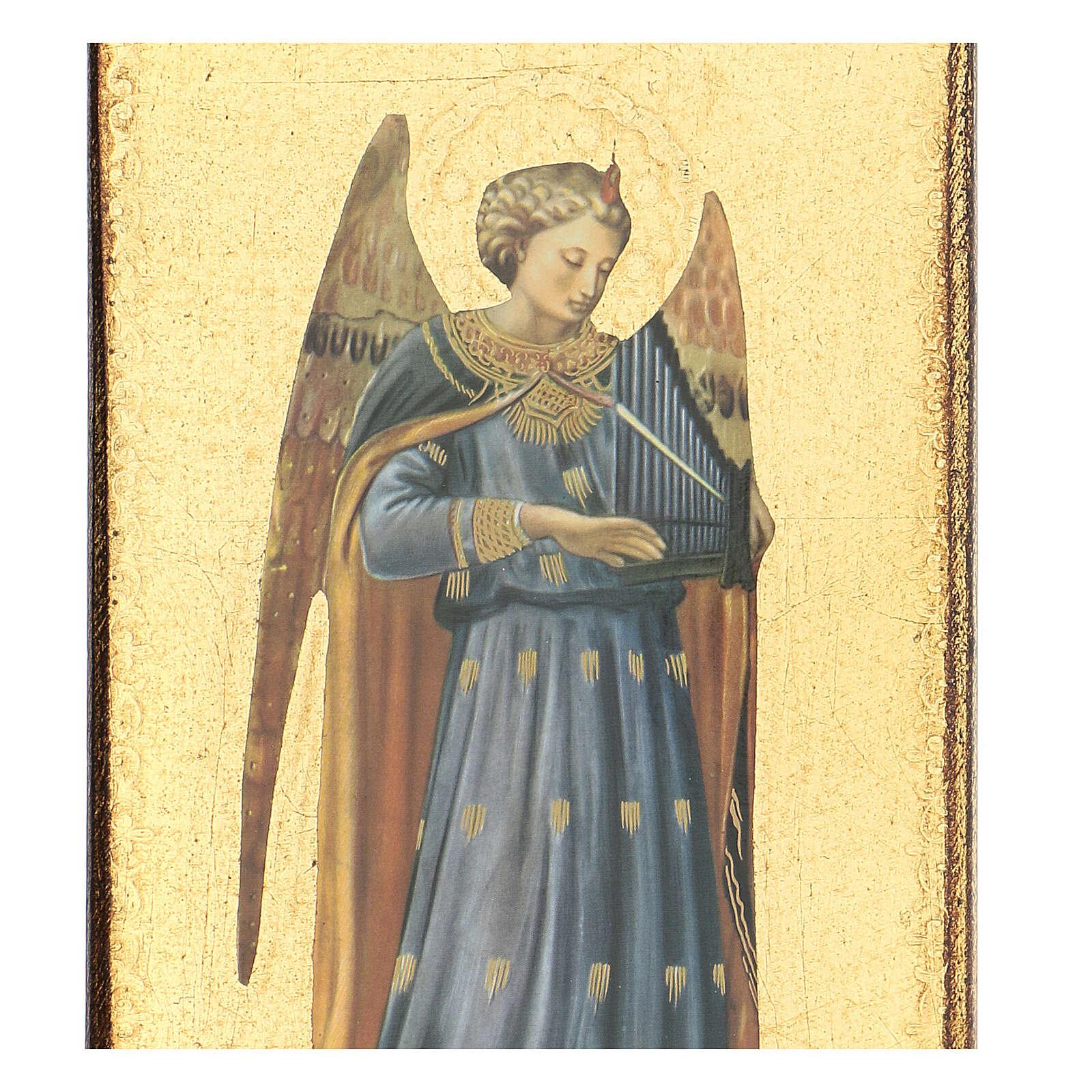 Cuadro impresa ángel Beato Angélico 30x15 cm 3