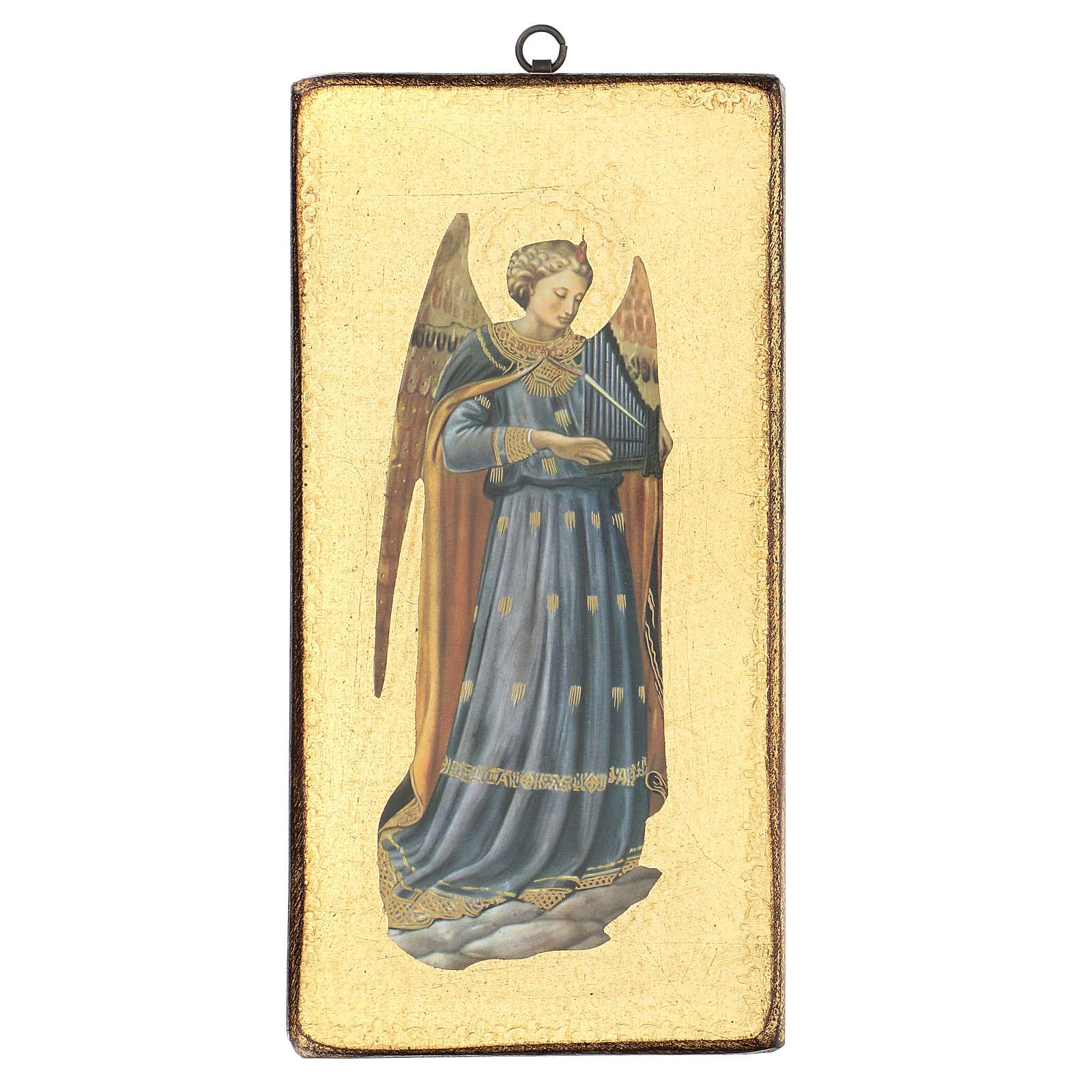 Quadro stampa angelo Beato Angelico 30x15 cm 3
