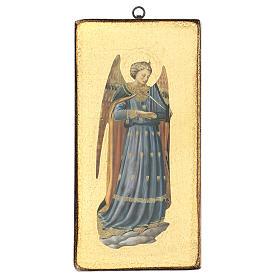 Quadro stampa angelo Beato Angelico 30x15 cm s1