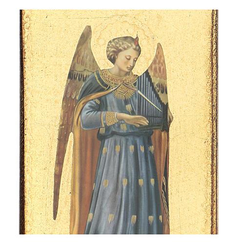 Quadro stampa angelo Beato Angelico 30x15 cm 2