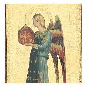 Quadro stampa dettaglio Beato Angelico 30x15 cm s2