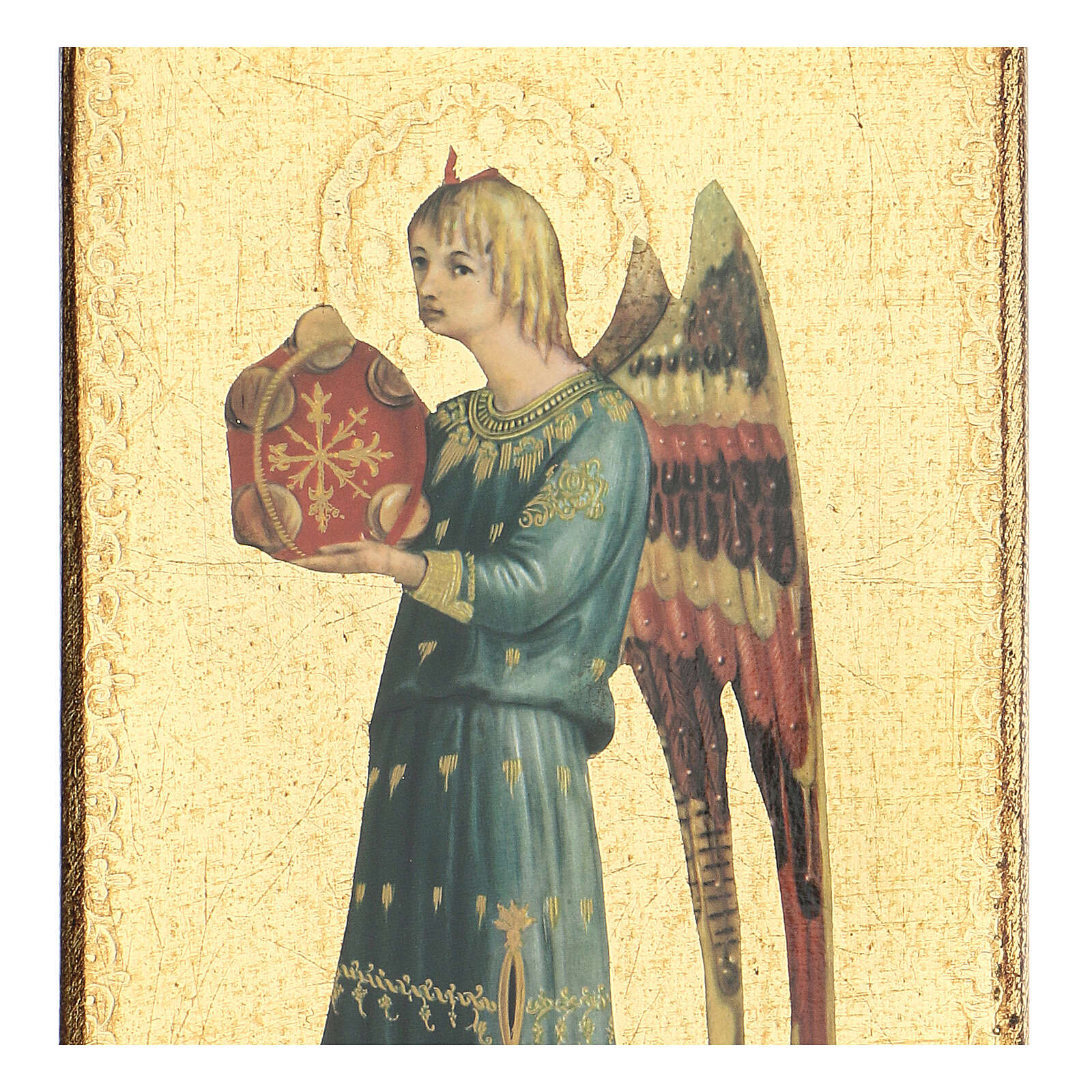 Printed picture detail of Fra Angelico's angel 12x6 in 3