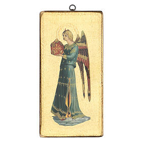Printed picture detail of Fra Angelico's angel 12x6 in s1