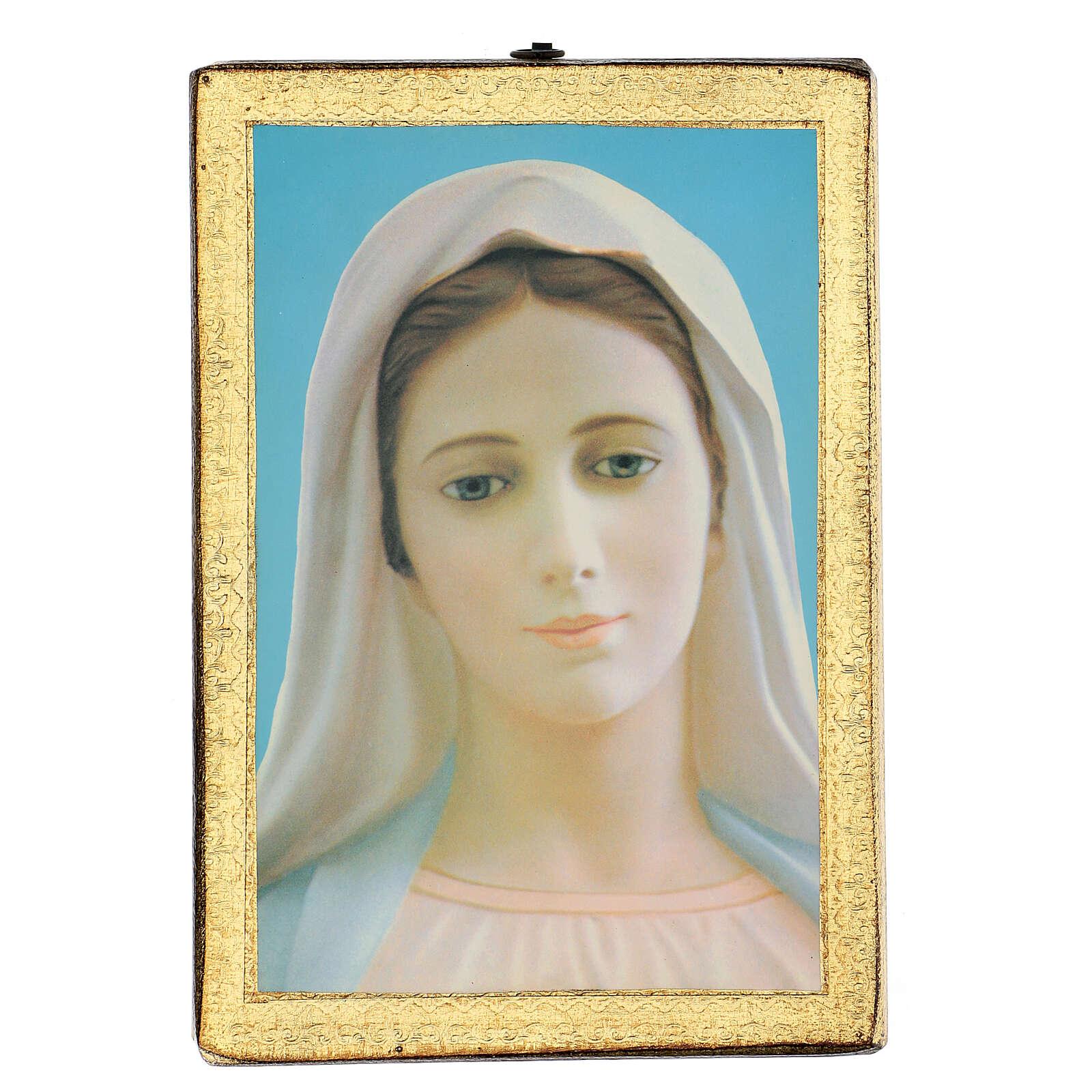 Cuadro impresa Virgen de Medjugorje 25x20 cm 3