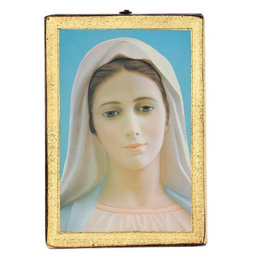 Cuadro impresa Virgen de Medjugorje 25x20 cm 1