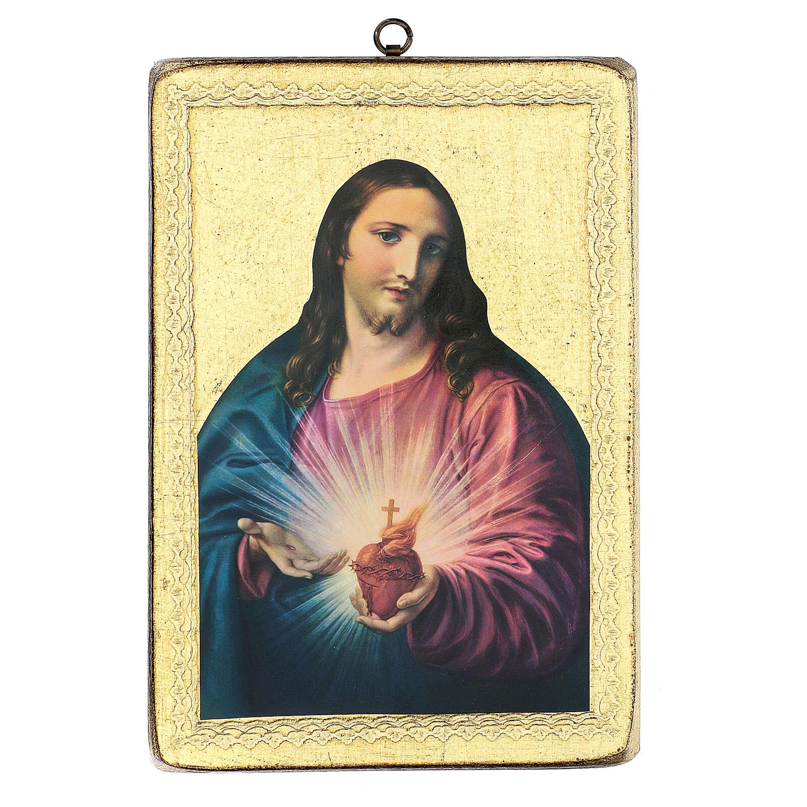 Cuadro impresa S. Corazón 25x20 cm 3