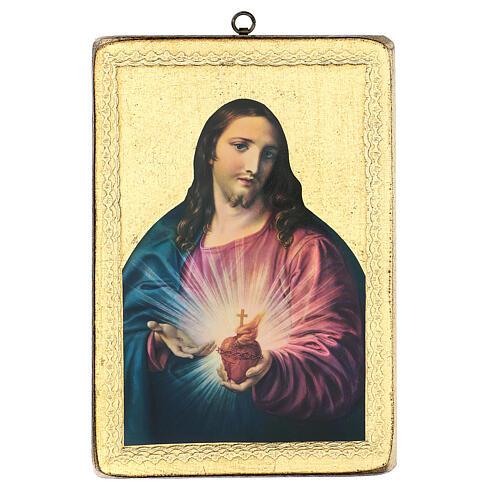 Cuadro impresa S. Corazón 25x20 cm 1