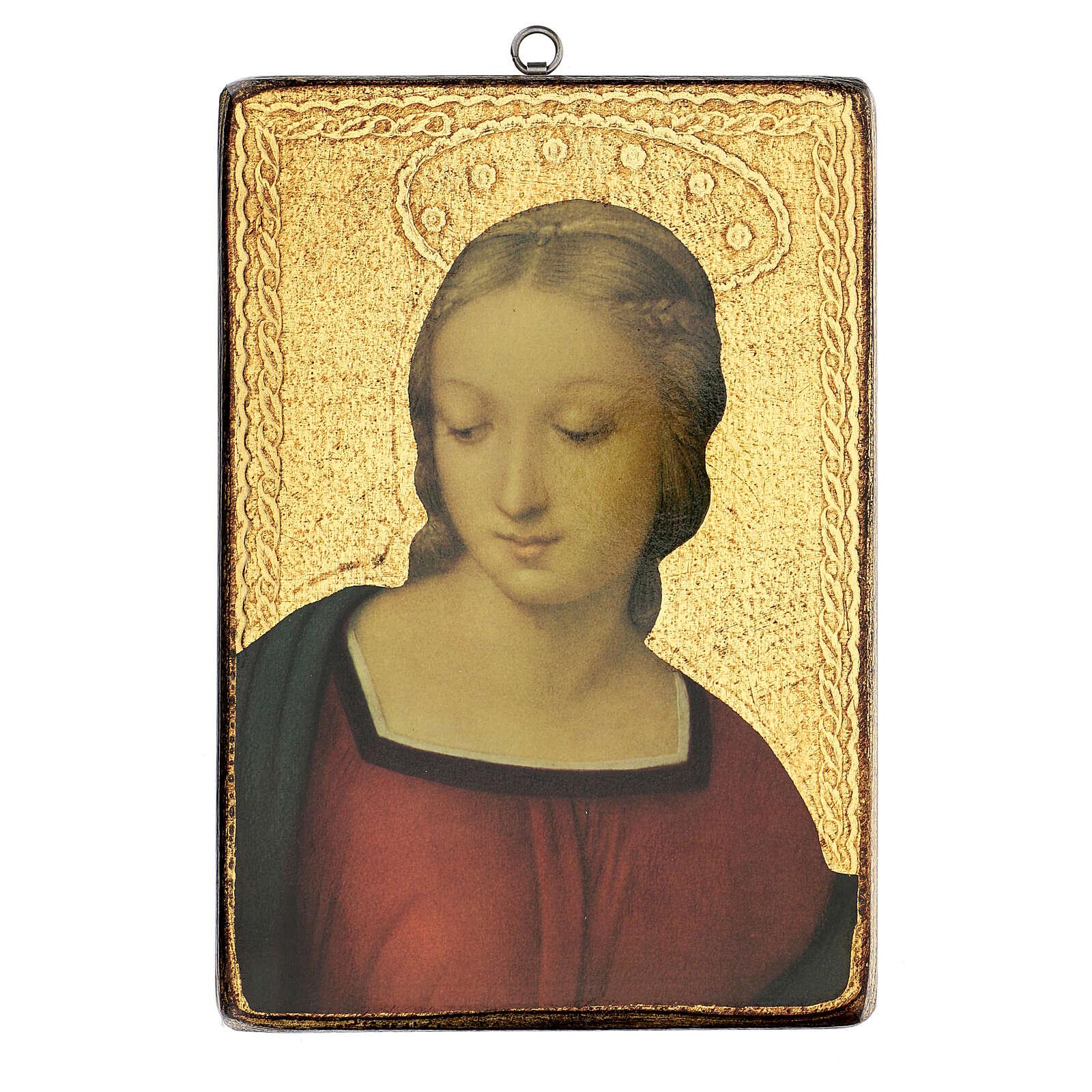 Cuadro impresa Virgen del Jilguero 25x20 cm 3
