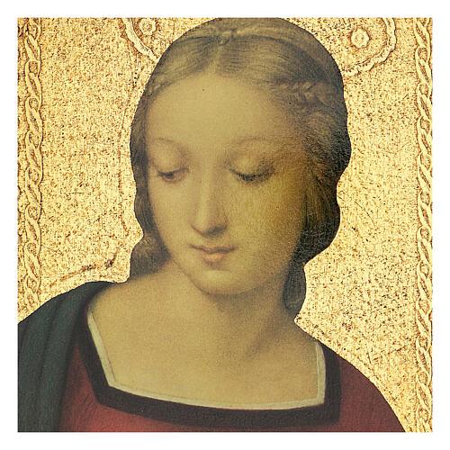 Cuadro impresa Virgen del Jilguero 25x20 cm 4