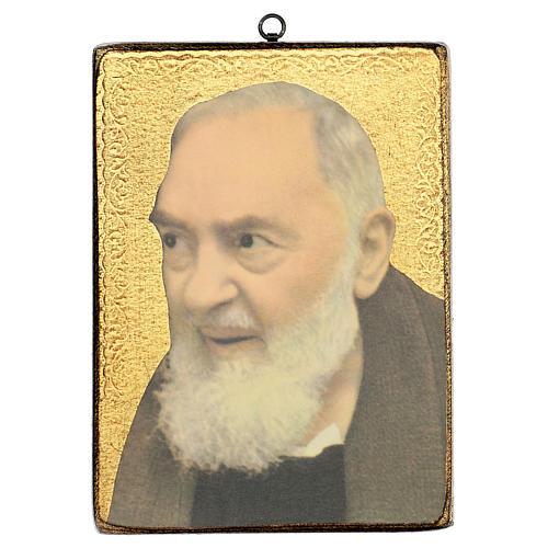 Quadro stampa San Pio 25x20 cm 1