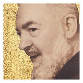 Quadro stampa Padre Pio 25x20 cm s2