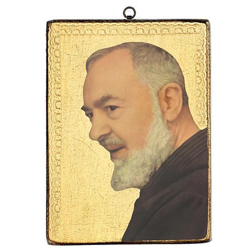 Quadro stampa Padre Pio 25x20 cm 1
