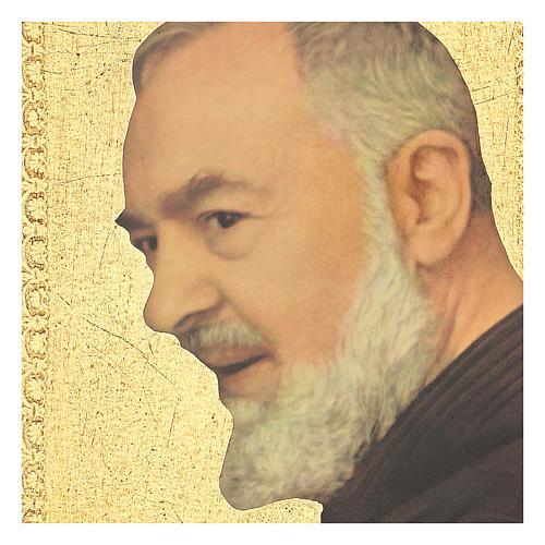 Quadro stampa Padre Pio 25x20 cm 2