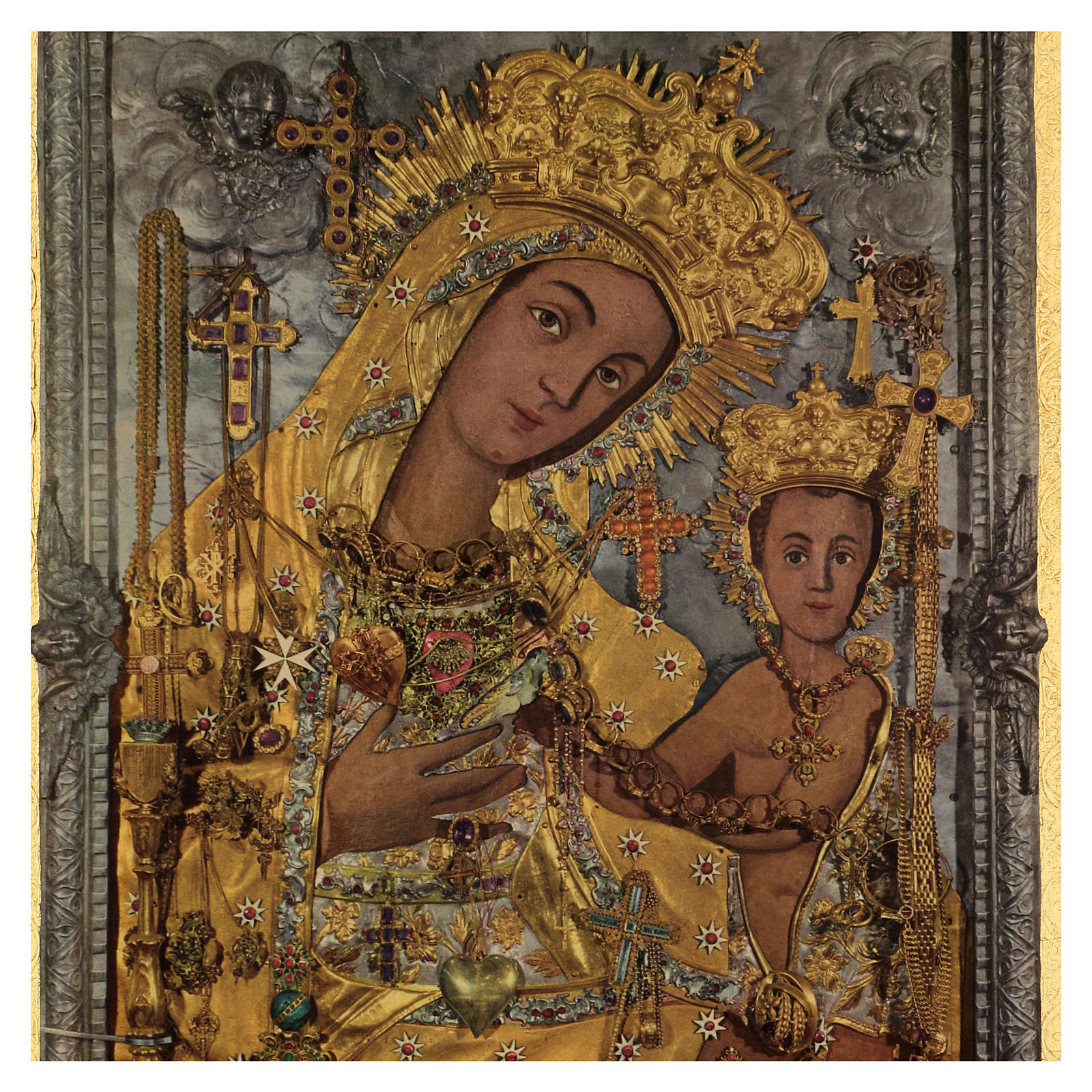 Quadro stampa legno Madonna OdIgitria 45x35 cm 3