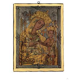 Quadro stampa legno Madonna OdIgitria 45x35 cm s1