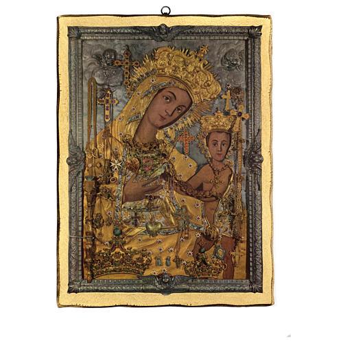 Quadro stampa legno Madonna OdIgitria 45x35 cm 1