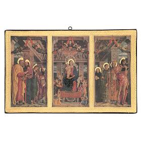 Cuadro impresa madera Tríptico Mantegna 35x55 cm s1