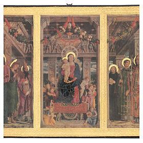 Cuadro impresa madera Tríptico Mantegna 35x55 cm s2