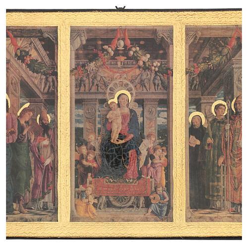 Cuadro impresa madera Tríptico Mantegna 35x55 cm 2
