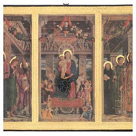 Quadro stampa legno Trittico Mantegna 35x55 cm s2