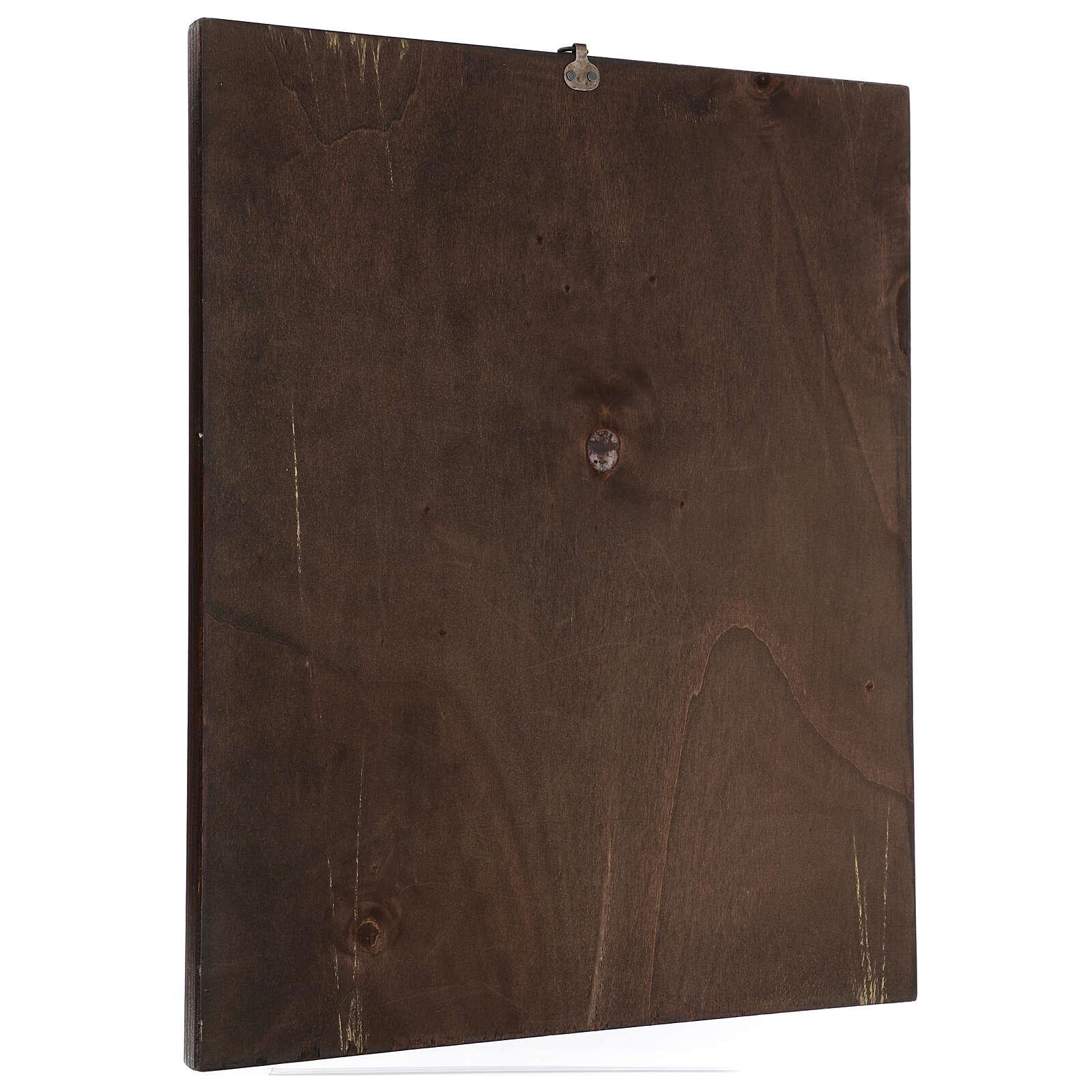 Cuadro impresa madera Santa Rita 50x40 cm 3