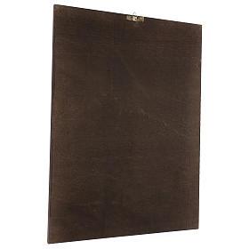 Quadro stampa su legno Madonna del Cardellino 60x44 cm s3