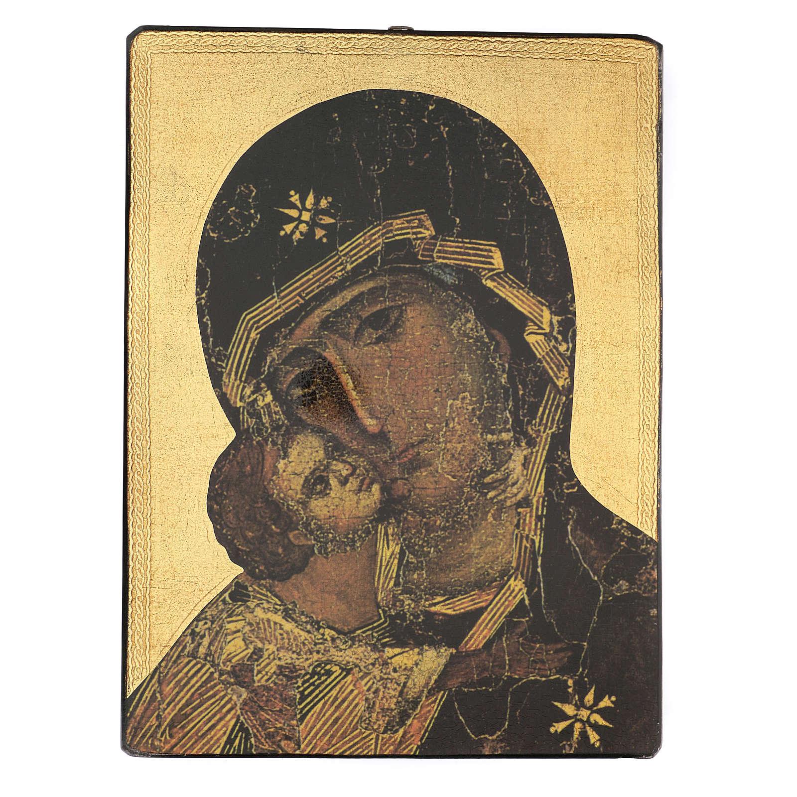 Quadro stampa Madonna della Tenerezza 65x50 cm 3