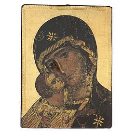 Quadro stampa Madonna della Tenerezza 65x50 cm s1