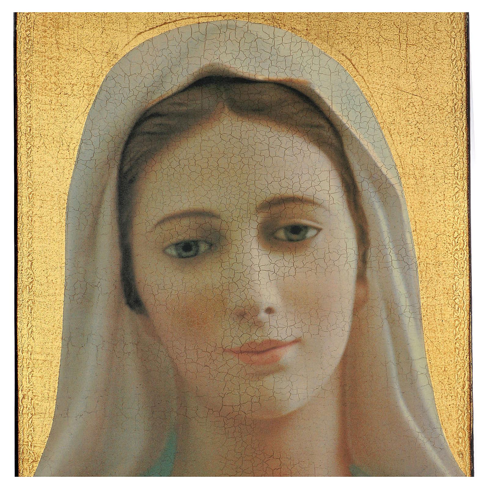Quadro crettato stampa Madonna Medjugorje 70x50 cm 3
