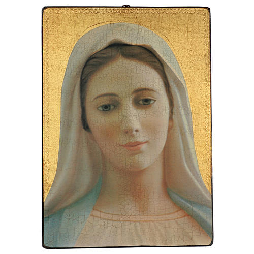 Quadro crettato stampa Madonna Medjugorje 70x50 cm 1