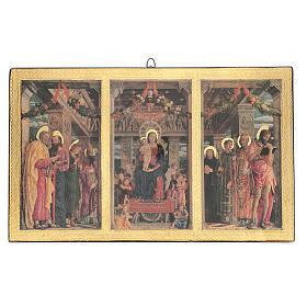 Quadro Trittico Mantegna stampa su legno 45x70 cm s1