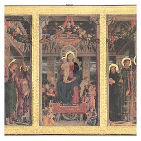 Quadro Trittico Mantegna stampa su legno 45x70 cm s2