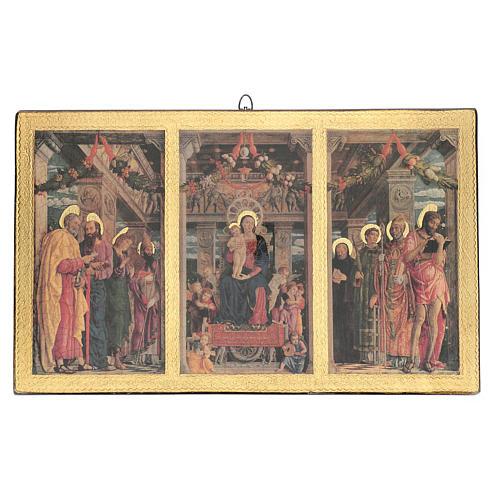 Quadro Trittico Mantegna stampa su legno 45x70 cm 1